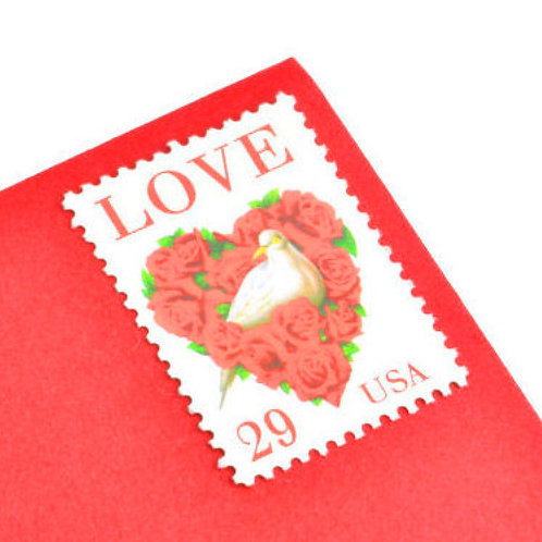 29¢ Love Dove & Roses - 25 Stamps