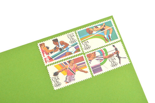 13¢ Summer Olympics - 25 Stamps