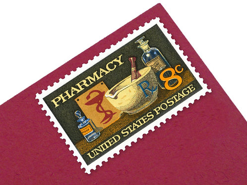 8¢ Pharmacy  - 25 Stamps