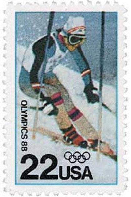 25 Winter Olympics, Calgary Postage Stamps - 20c - Vintage 1984 - Unused