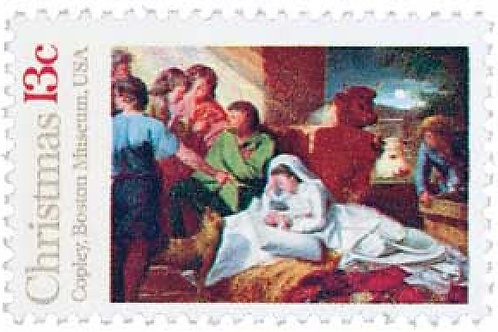 Pack of 25 Unused Nativity Traditional Christmas Stamps - 13c - 1976 - Vintage