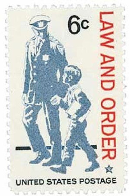 Pack of 25 Unused Law and Order Stamps - 6c - 1968 - Unused Vintage Postage