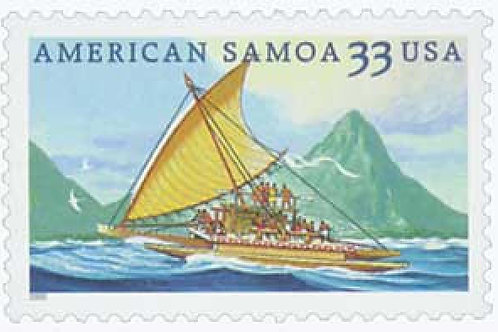 Pack of 20 Unused American Samoa Stamps - 33c - 2000 - Unused Vintage Postage