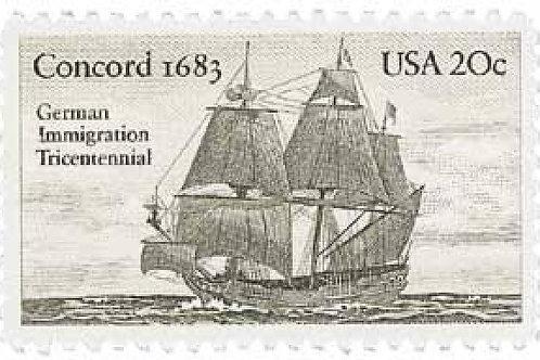 Pack of 25 Unused Concord German Immigration Stamps - 20c - 1983 - Vintage