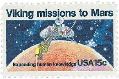 25 Viking Mission to Mars Postage Stamps - 15c - 1978 - Unused - Quantity of 25