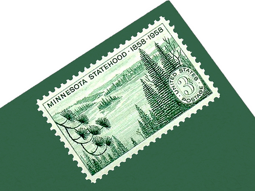 3¢ Minnesota Statehood - 25 Stamps