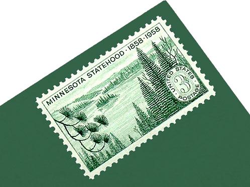 3¢ Minnesota Statehood - 25 Stamps