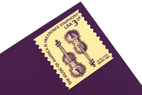 3.5¢ Violin American Music - 25 Stamps