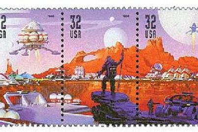 Pack of 20 Unused Space Discovery Stamps - 32c - Unused Vintage Postage