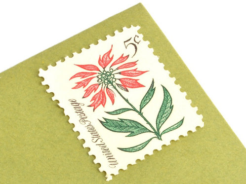 5¢ Christmas Holly - 25 Stamps