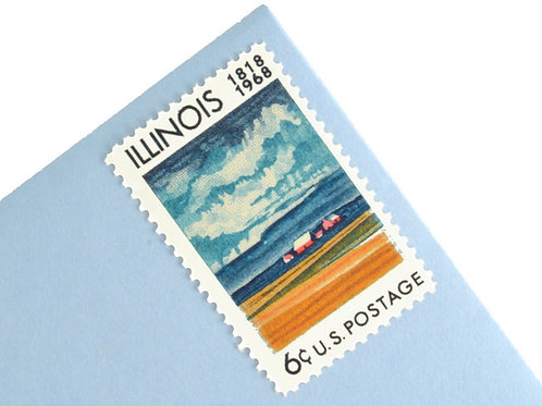 6¢ Illinois Statehood - 25 Stamps