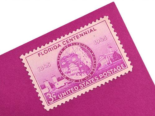 3¢ West Florida Centennial - 25 Stamps