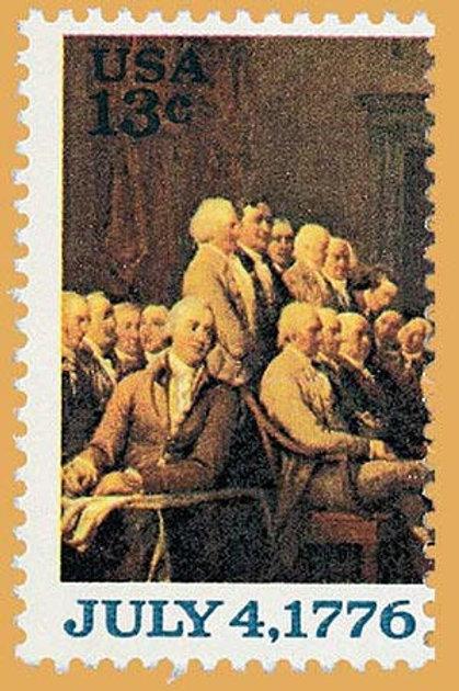 Pack of 25 - Declaration of Independence Delegates Postage Stamps - 13c - 1976