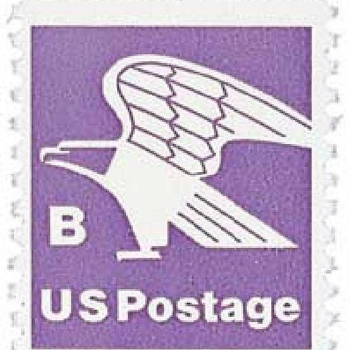 Pack of 25 Unused B-rate Eagle Stamps - 18c - 1981 - Unused Vintage Postage