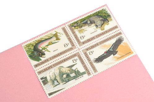 8¢ Wildlife Conservation - 25 Stamps
