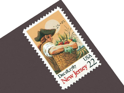 22¢ New Jersey - 25 Stamps