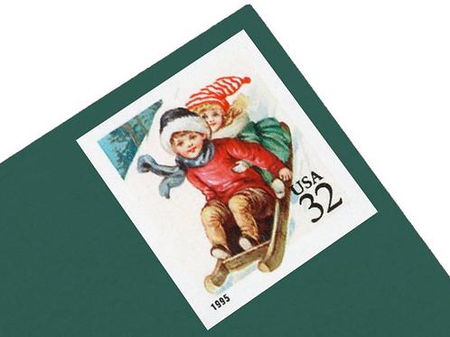 Pack of 18 Unused Children Sledding Stamps- 32c - 1995 - Unused - Quantity of 18