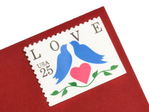 25¢ Blue Birds Love - 25 Stamps