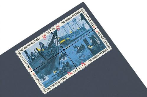 Unused Vintage Boston Tea Party Postage Stamps From 1973