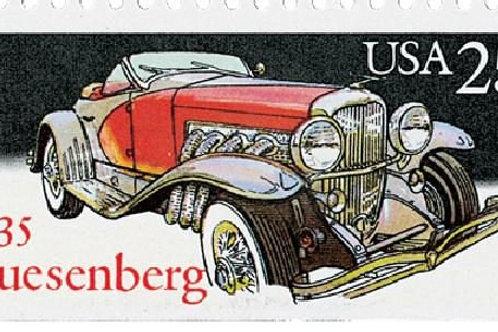 Pack of 20 Unused 1935 Duesenberg Classic Cars Stamps - 25c - 1988