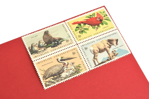 8¢ Wildlife Conservation - 25 Stamps