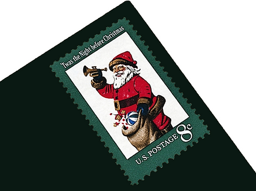 Pack of 25 Unused Vintage Santa Postage Stamps - 8c - Vintage 1972 - Unused
