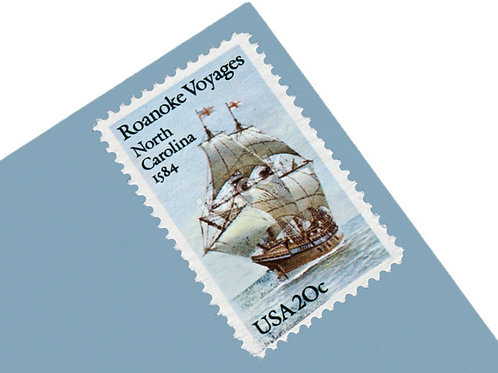 20¢ Roanoke Voyages - 25 Stamps