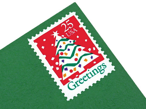 25¢ Christmas Greetings Tree - 25 Stamps