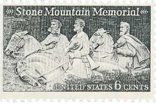 Pack of 25 Unused Stone Mountain Memorial Stamps - 6c - 1970 - Unused Vintage