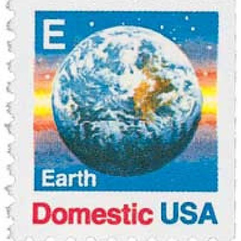 "Pack of 20 Unused Earth ""E"" Stamps - 25c - 1988 - Unused Vintage Postage"