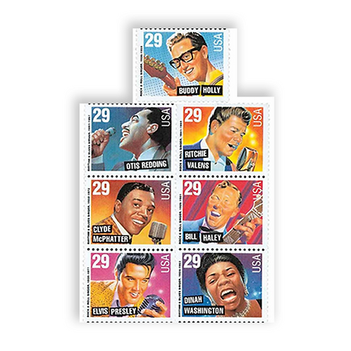 Pack of 35 Unused Stamps Legends of American Music- 29c - 1993 - Unused