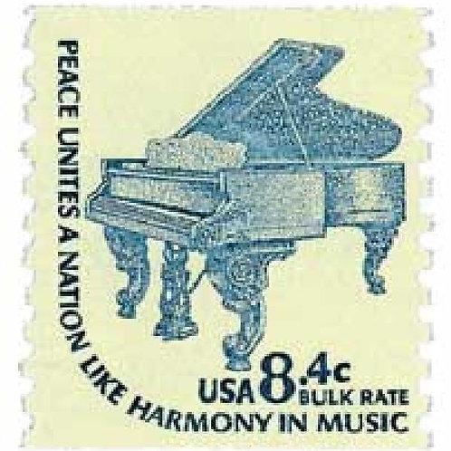 Pack of 25 Unused Grand Piano Stamps - 8.4c - 1978 - Unused Vintage Postage