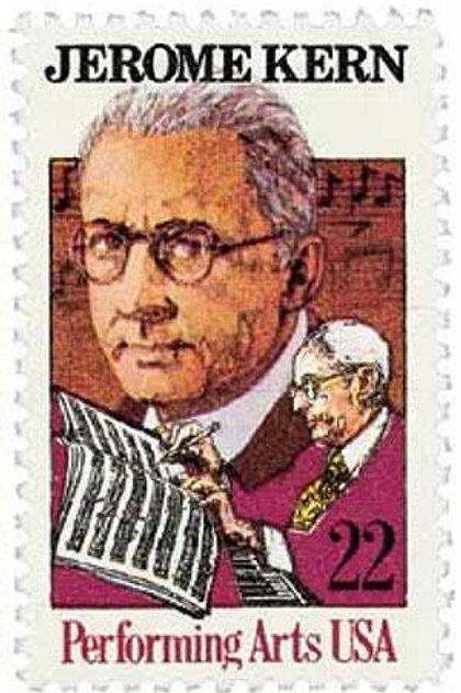 25 Jerome Kern Postage Stamps - 22c - 1985 - Unused - Quantity of 25