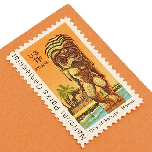 11¢ Hawaii Tiki - 25 Stamps