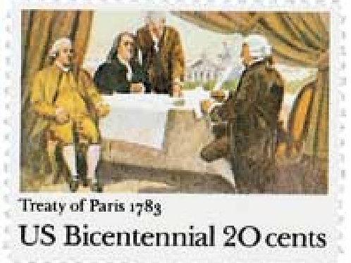 Pack of 20 Unused Signing of Treaty of Paris - 20c - 1983 - Vintage Postage