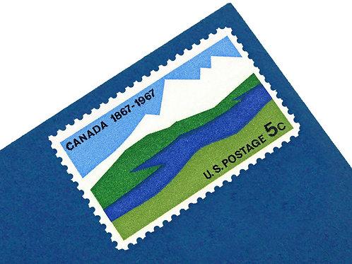 5¢ Canada Centenary - 25 Stamps