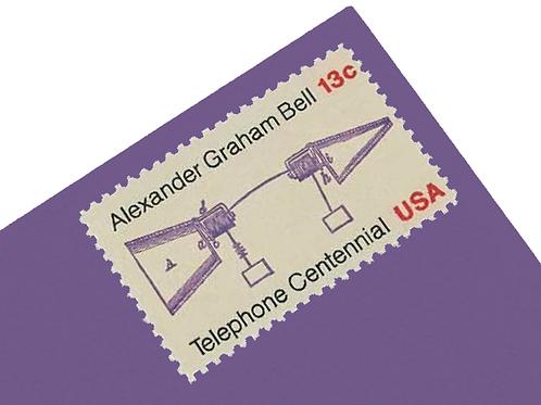 13¢ Telephone Centennial Alexander Graham Bell - 25 Stamps