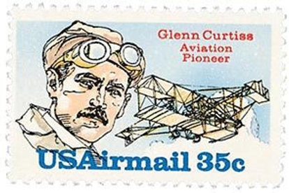Pack of 25 Unused Glenn Curtiss Aviation Pioneer and Aircraft Designer Stamps