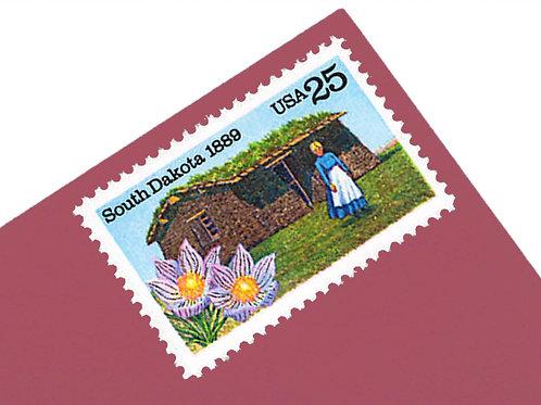 25¢ South Dakota - 25 Stamps