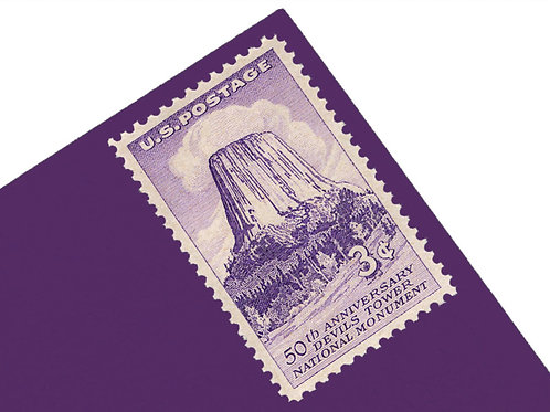 3¢ Wyoming Devils Tower - 25 Stamps