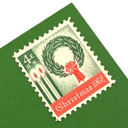 4¢ Christmas Wreath - 25 Stamps
