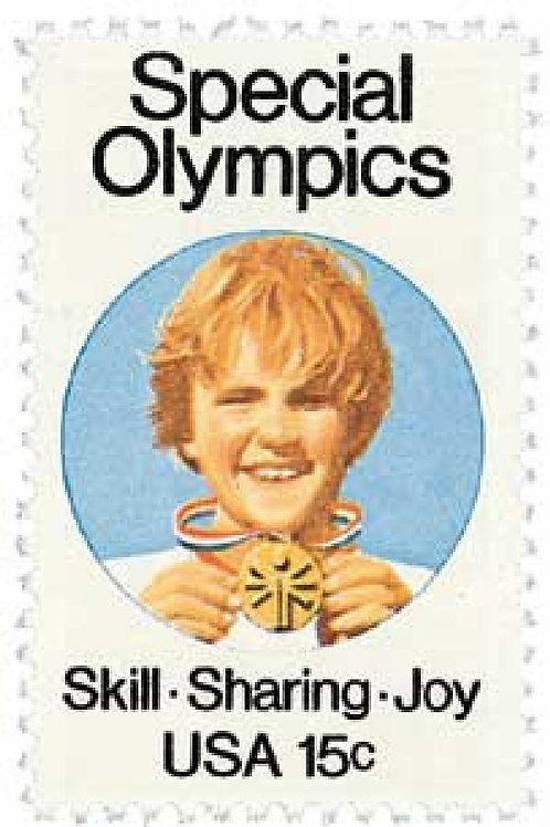 25 Special Olympics Postage Stamps - 15c - 1979 - Unused - Quantity of 25