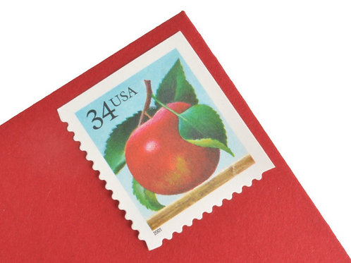 34¢ Apple & Orange - 20 Stamps