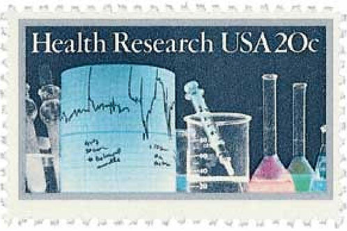 Pack of 25 Unused Health Research Stamps - 20c - 1984 - Unused Vintage Postage