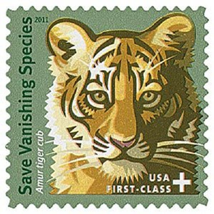 Pack of 20 Unused Save Vanishing Species Stamps - First Class Forever - Vintage