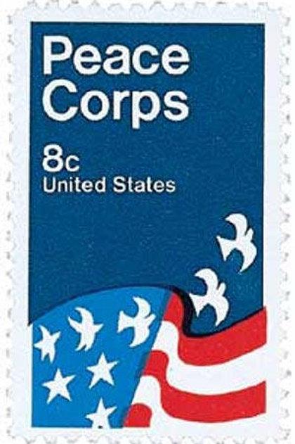 Pack of 25 Unused Peace Corps Stamps - 8c - 1972 - Unused Vintage Postage