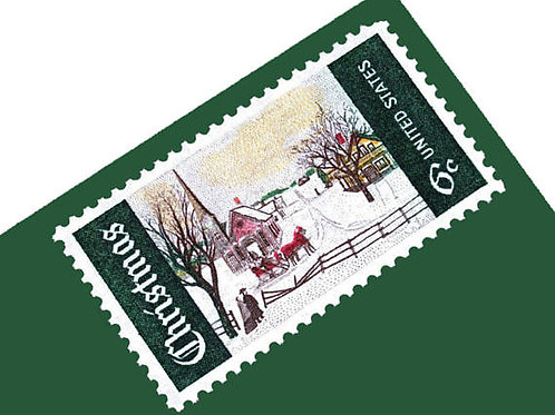 Pack of 25 Unused Christmas Winter Sunday Stamps - 6c - Vintage 1969 - Unused