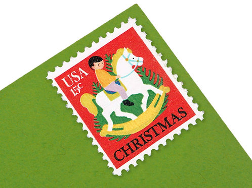 15¢ Christmas Hobby Horse - 25 Stamps