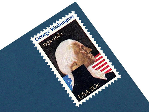 20¢ George Washington - 25 Stamps