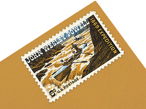 6¢ Grand Canyon- John Wesley Powell - 25 Stamps